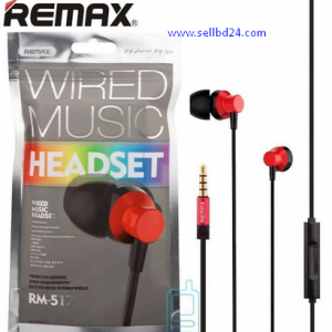 Remax RM-512 WIRED MUSIC HEADSET Earphone